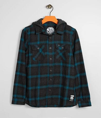Boys - RVCA Good Hombre Hooded Flannel Shirt