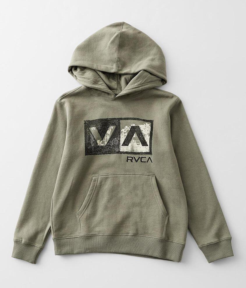Boys - RVCA Balance Box Hooded Sweatshirt front view