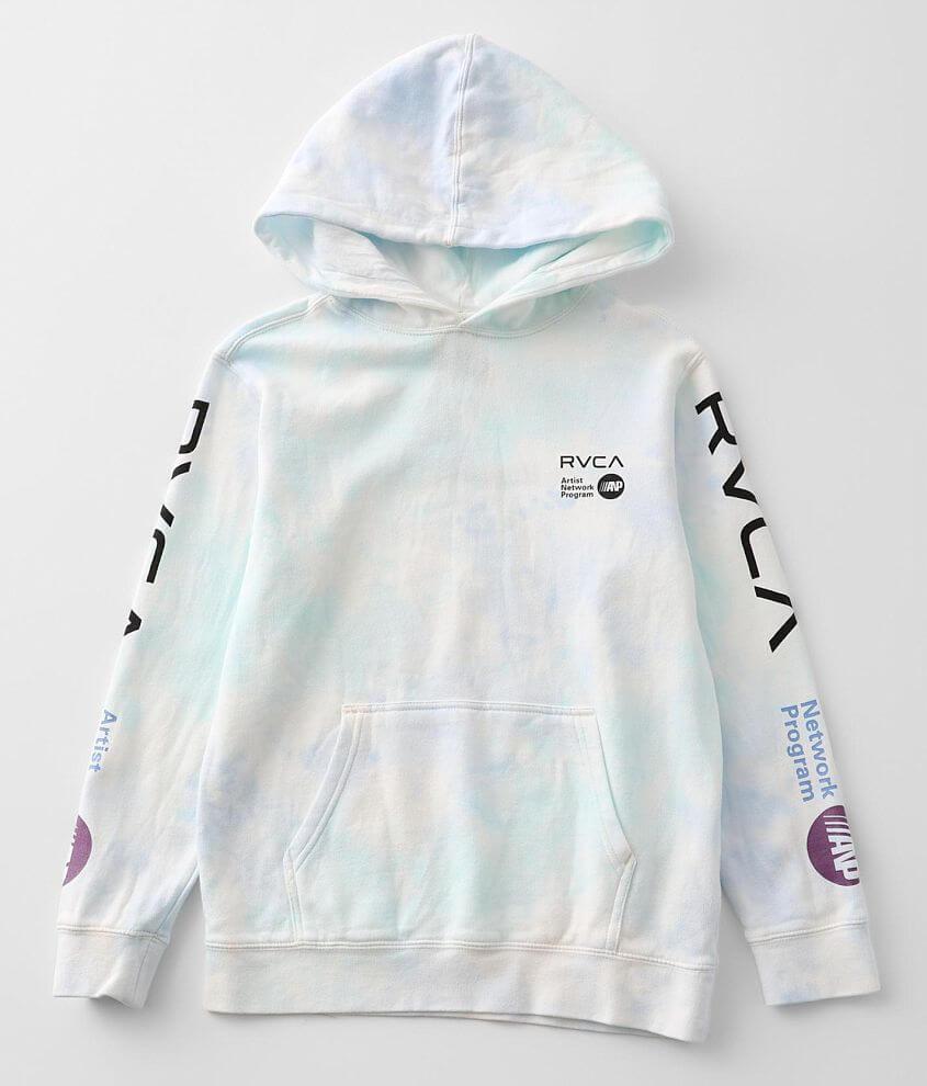 Boys - RVCA ANP Hooded Sweatshirt front view