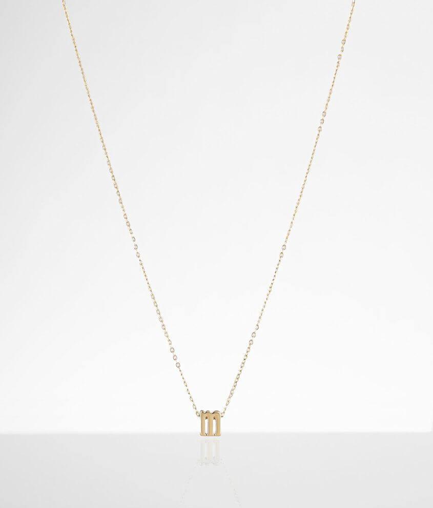 Sahira Jewelry Design Mini M Necklace
