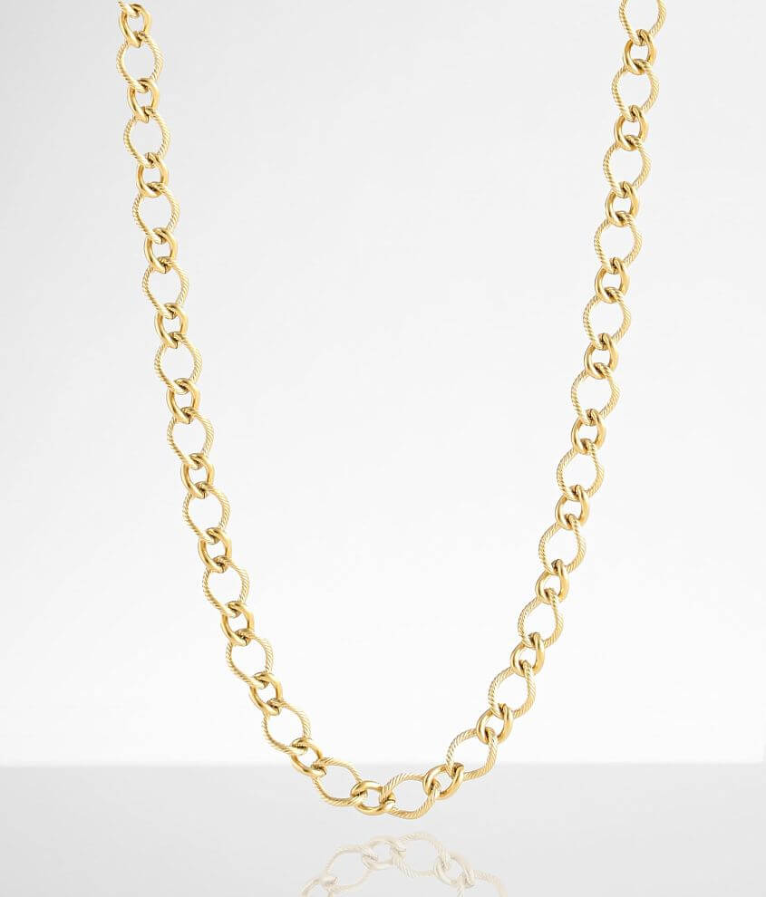 Sahira Jewelry Design Sienna Link Chain Necklace front view