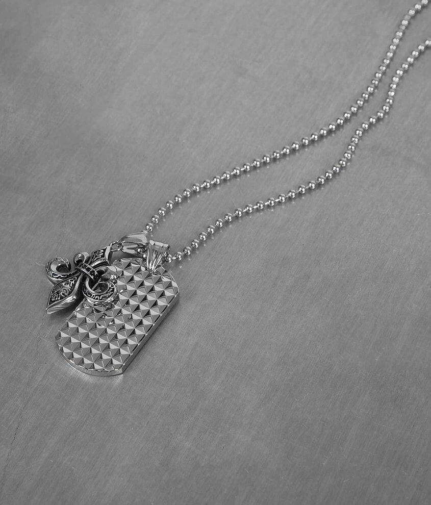Inox Double Pendant Necklace front view