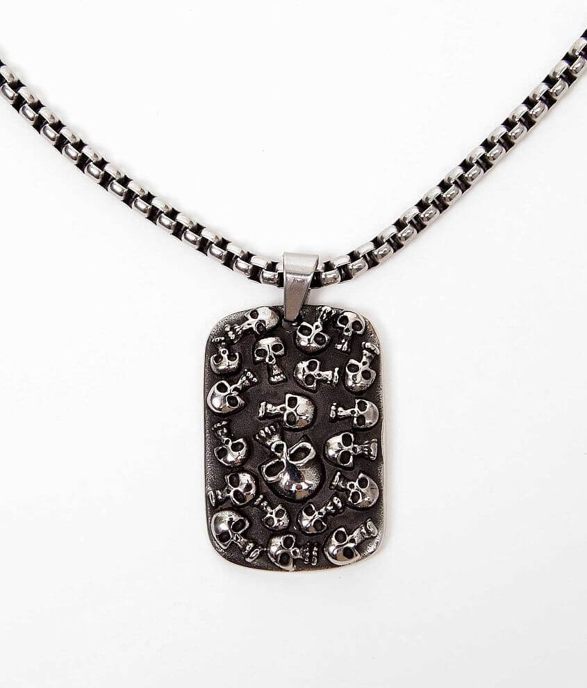 Inox Skull Necklace front view
