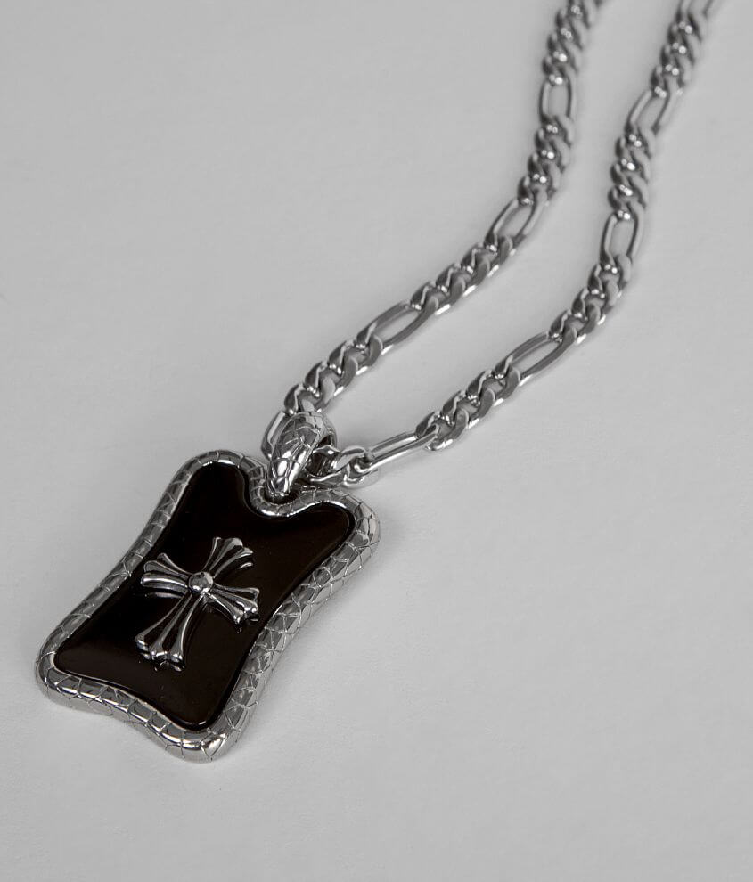 Inox Faler Cross Necklace front view