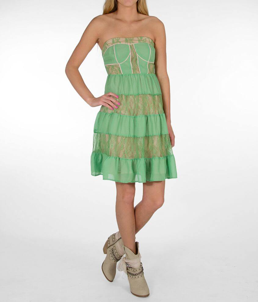 Flying Tomato Pieced Tube Top Dress front view