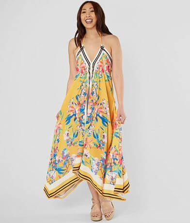 Flying Tomato Floral Halter Maxi Dress
