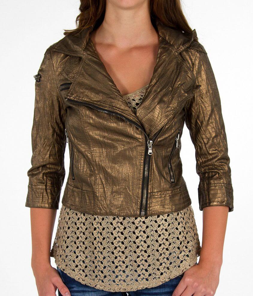 Daytrip Asymmetrical Zip Jacket front view