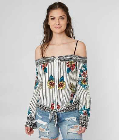 Flying Tomato Cold Shoulder Top