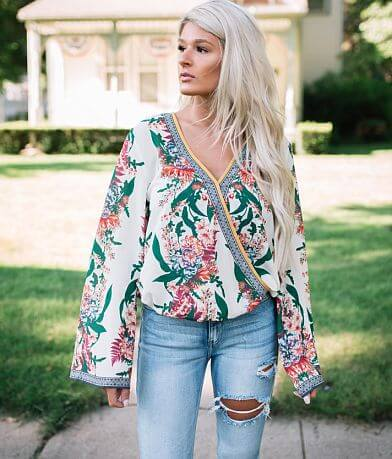 Flying Tomato Floral Gauze Top