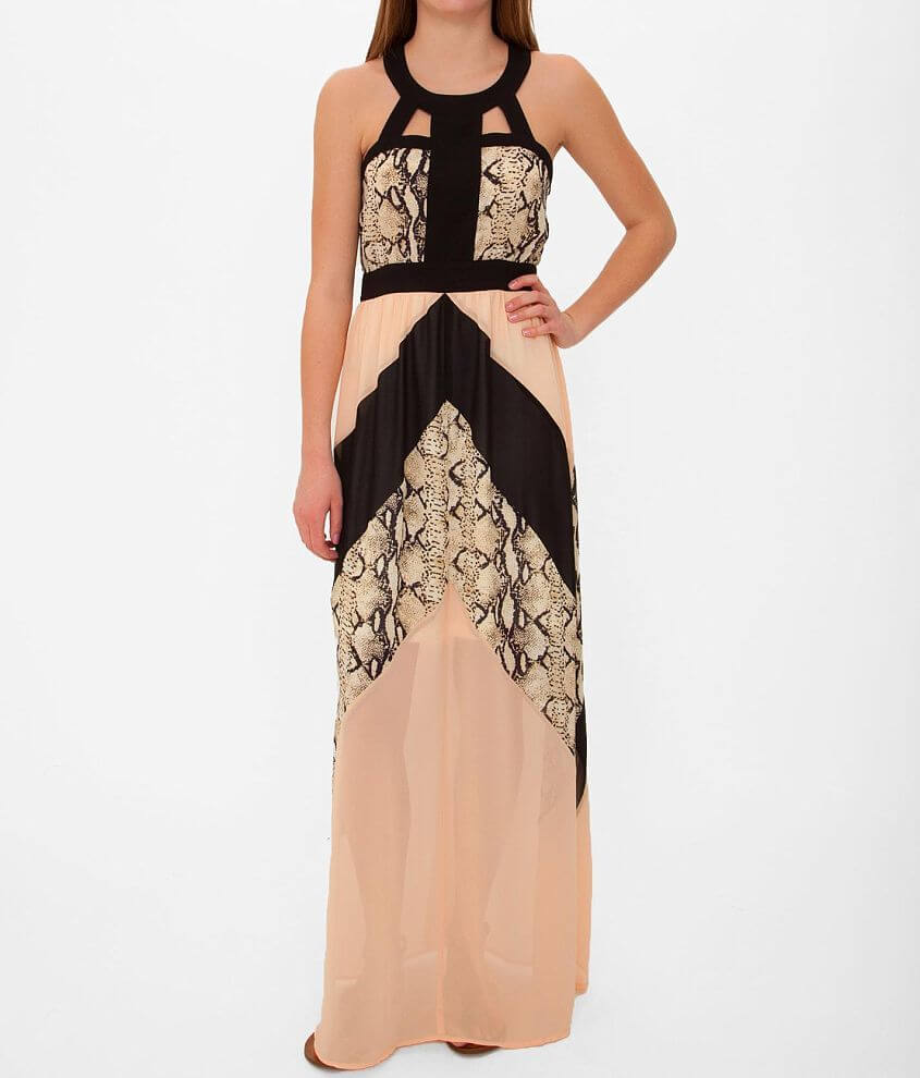 Flying Tomato Printed Maxi Dress front view