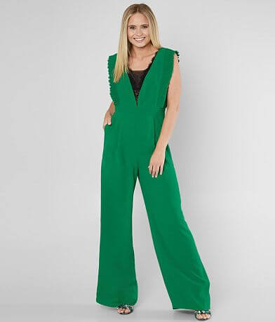 Jealous Tomato Deep V-Neck Wide Leg Jumpsuit