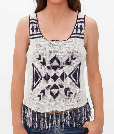 Flying Tomato Open Weave Sweater Tank Top