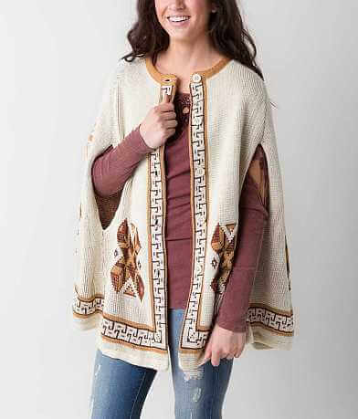 Flying Tomato Southwestern Cardigan Sweater Cape