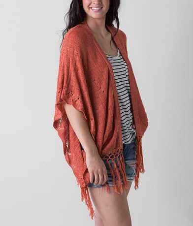 Flying Tomato Fringe Cardigan Sweater