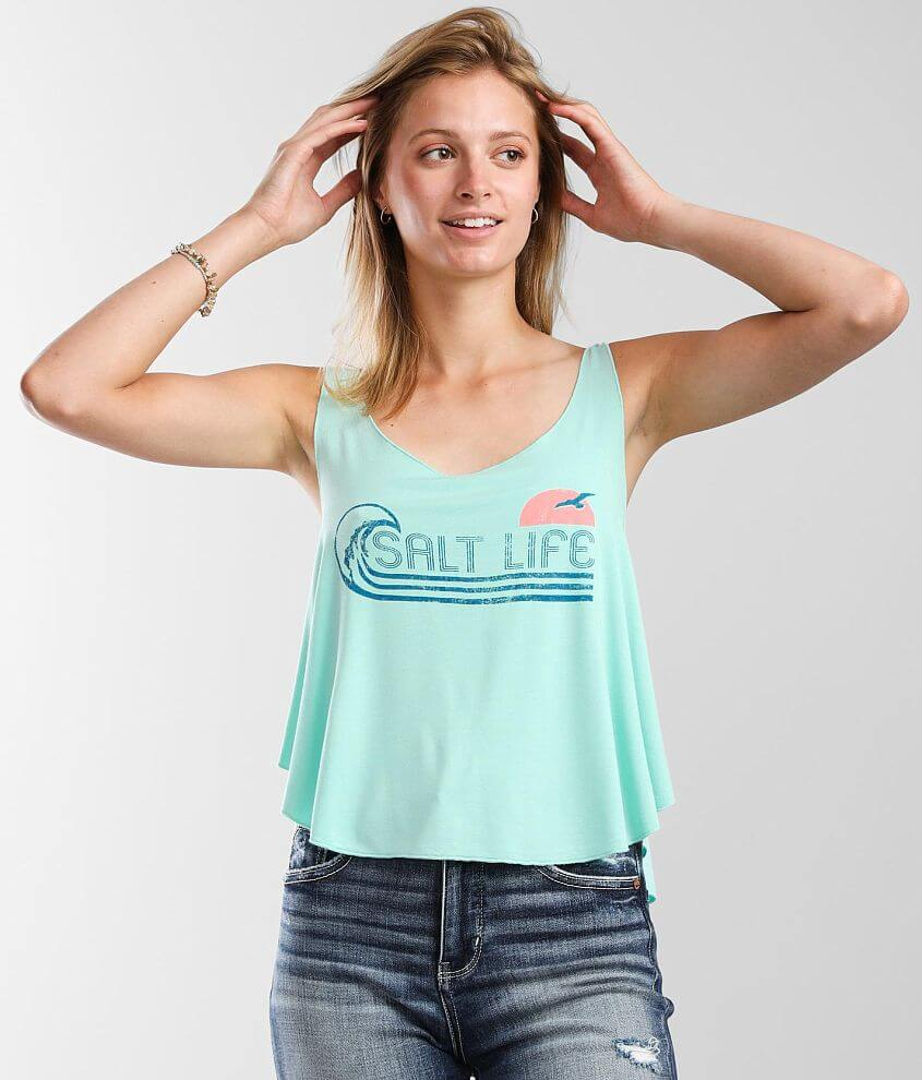 Salt Life Totally Rad Tank Top front view