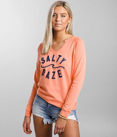 Salt Life Salty Daze Split Crew Neck Pullover