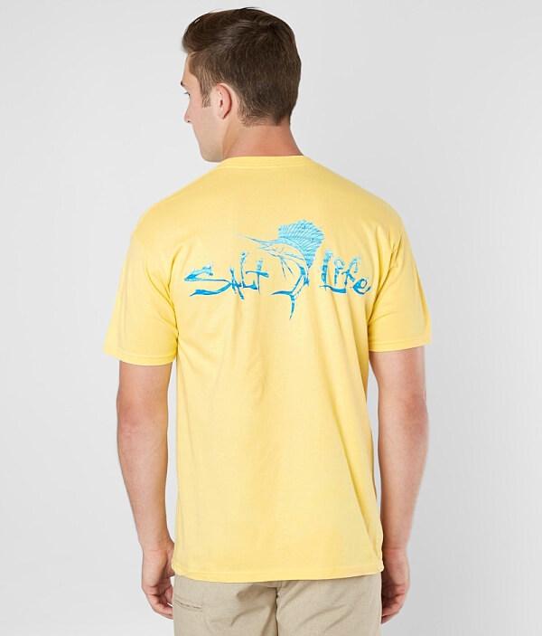 Shirt Salt Waterdrops T Life Sailfish TqxHXwf
