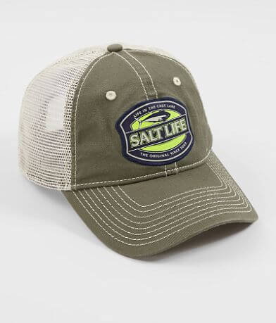 Salt Life Life In The Cast Lane Trucker Hat