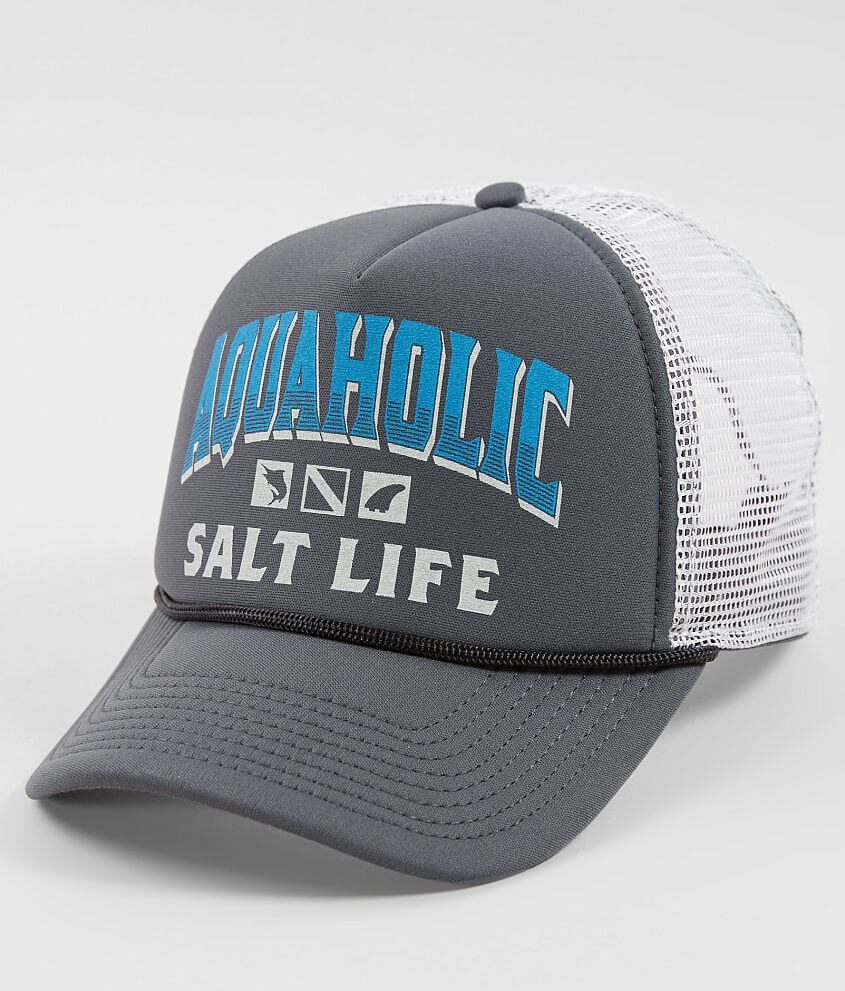 Salt Life Aquaholic Trucker Hat - Men s Hats in Charcoal  a37d496cd82e