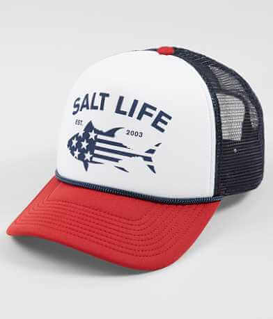 Salt Life Red White & Bluefin Trucker Hat