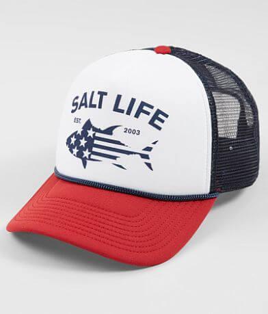 Salt Life Red White & Bluefin Trucker Hat