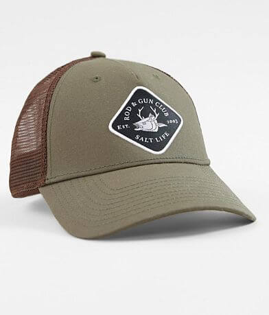 c3607eb952a Salt Life Rod   38  Gun Club Trucker Hat