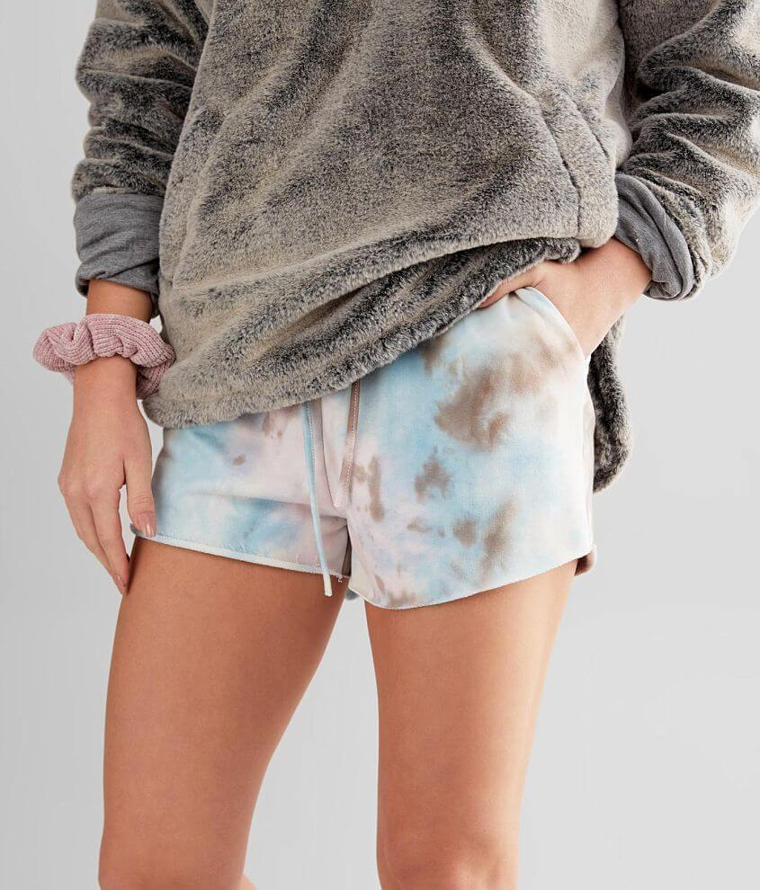 Know One Cares Tie Dye Short front view