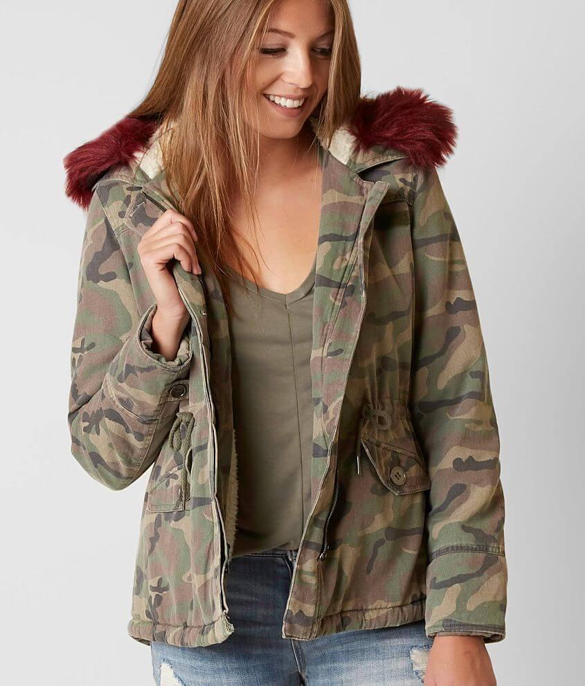 popular style arrives classcic CoffeeShop Camo Jacket - Women's Coats/Jackets in Olive Camo ...