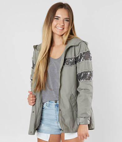 CoffeeShop Sequin Hooded Jacket