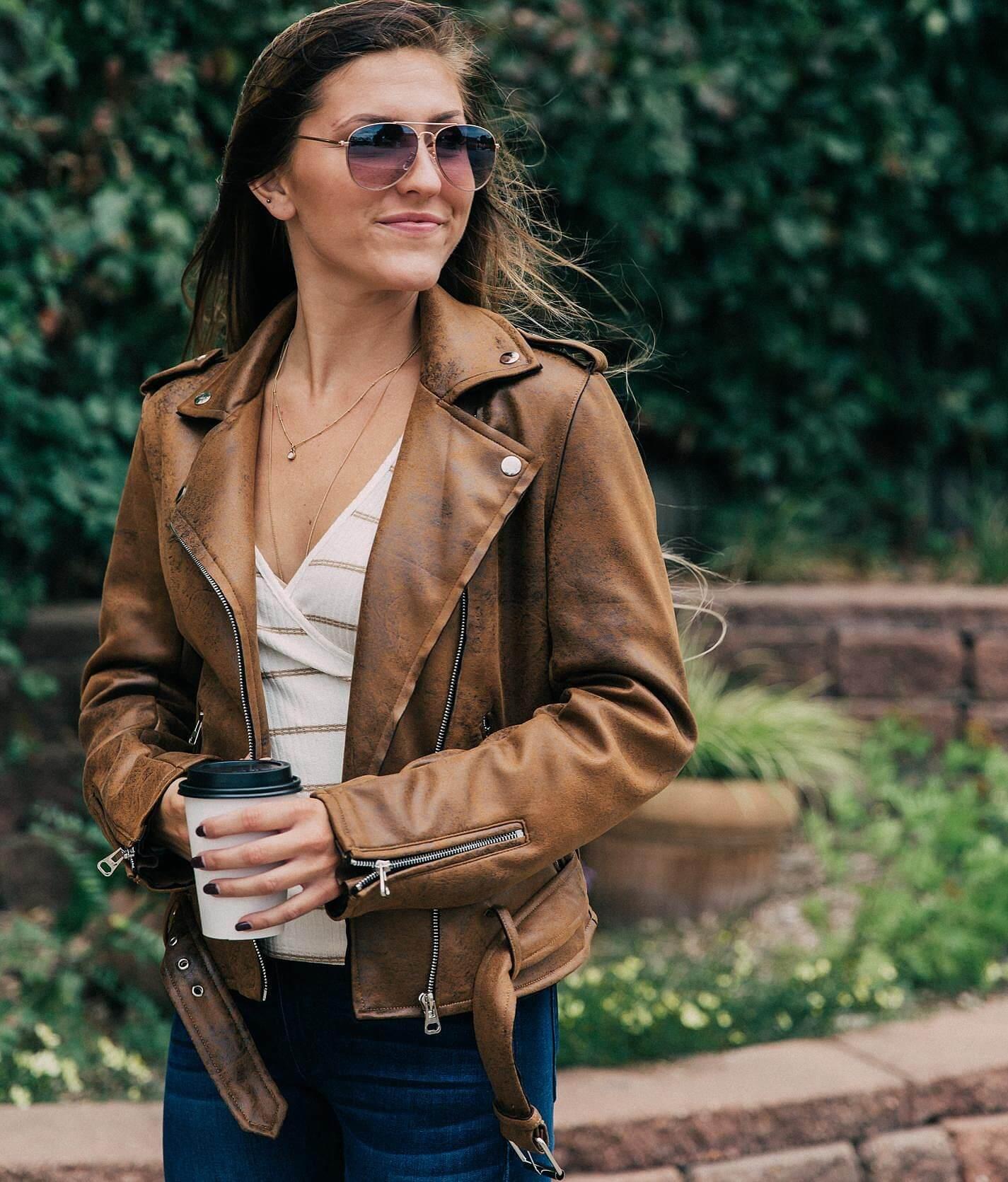 Karma jade leather jacket