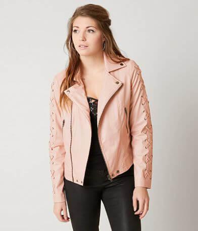 CoffeeShop Faux Leather Jacket