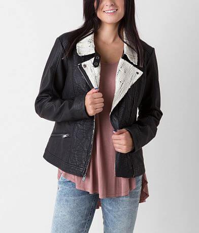 CoffeeShop Asymmetrical Zip Jacket