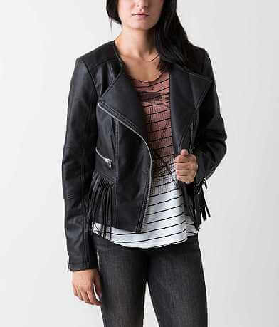 CoffeeShop Faux Leather Jacket