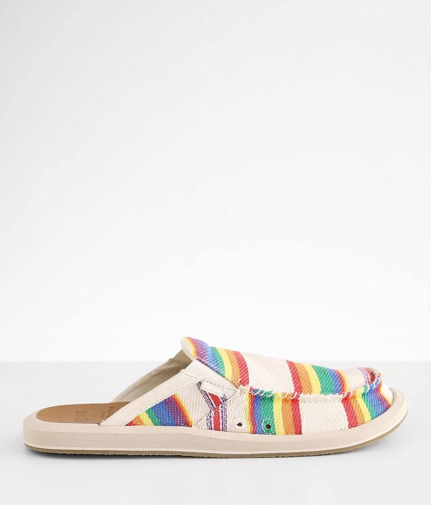 Sanuk We Got Your Back Pacific Pride Shoe front view