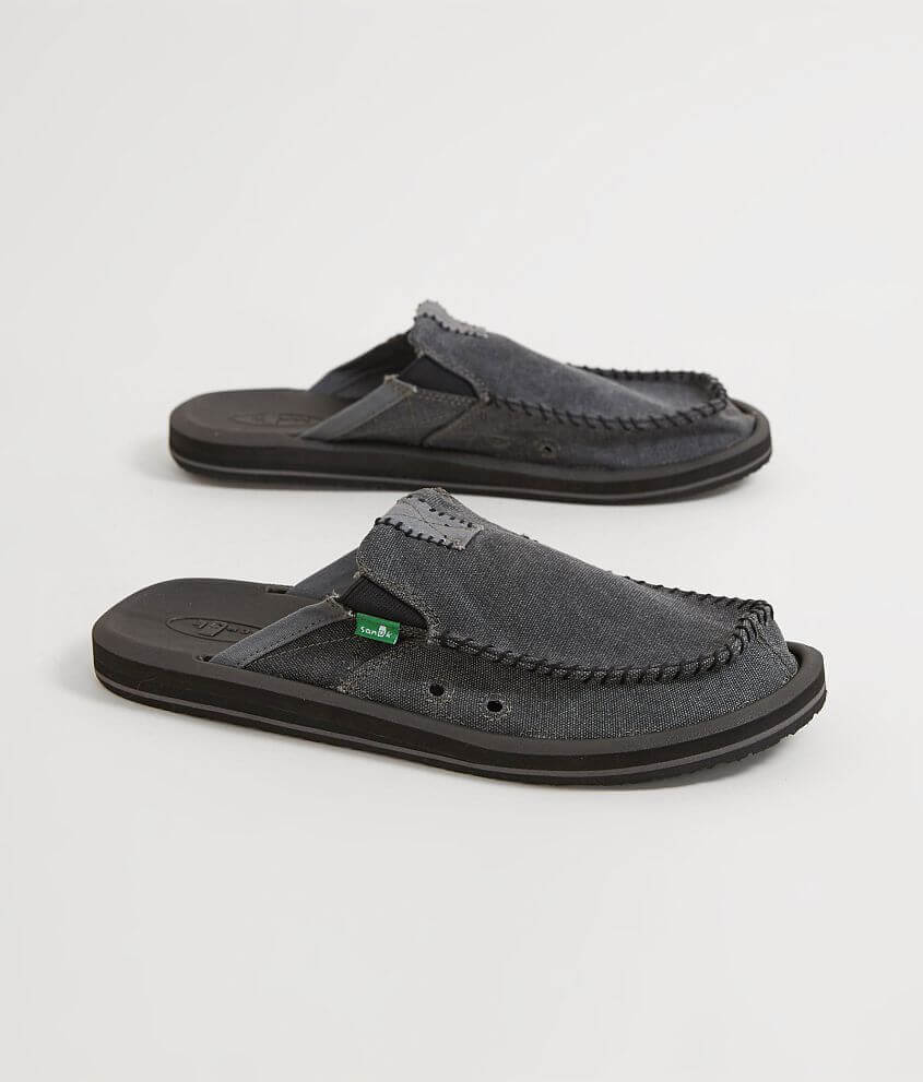 Sanuk You Got My Back II Charcoal Men/'s Easy Slip On SMF1109