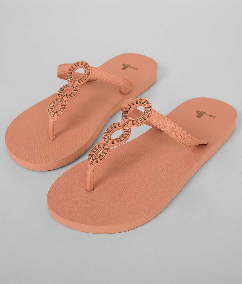 Sanuk Ellipsis Ladies Flip Flops Peach rSa6qnEK