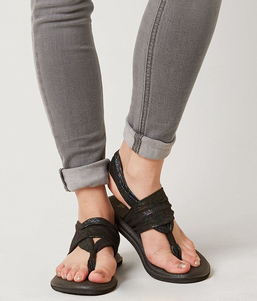 e81dfccdc2242f Sanuk Yoga Sling 2 Flip - Women s Shoes in Black Rainbow