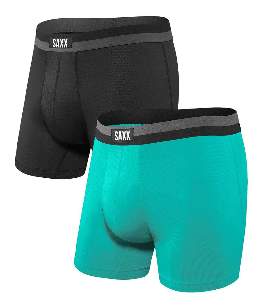 SAXX Sport Mesh 2 Pack Stretch Boxer Briefs front view