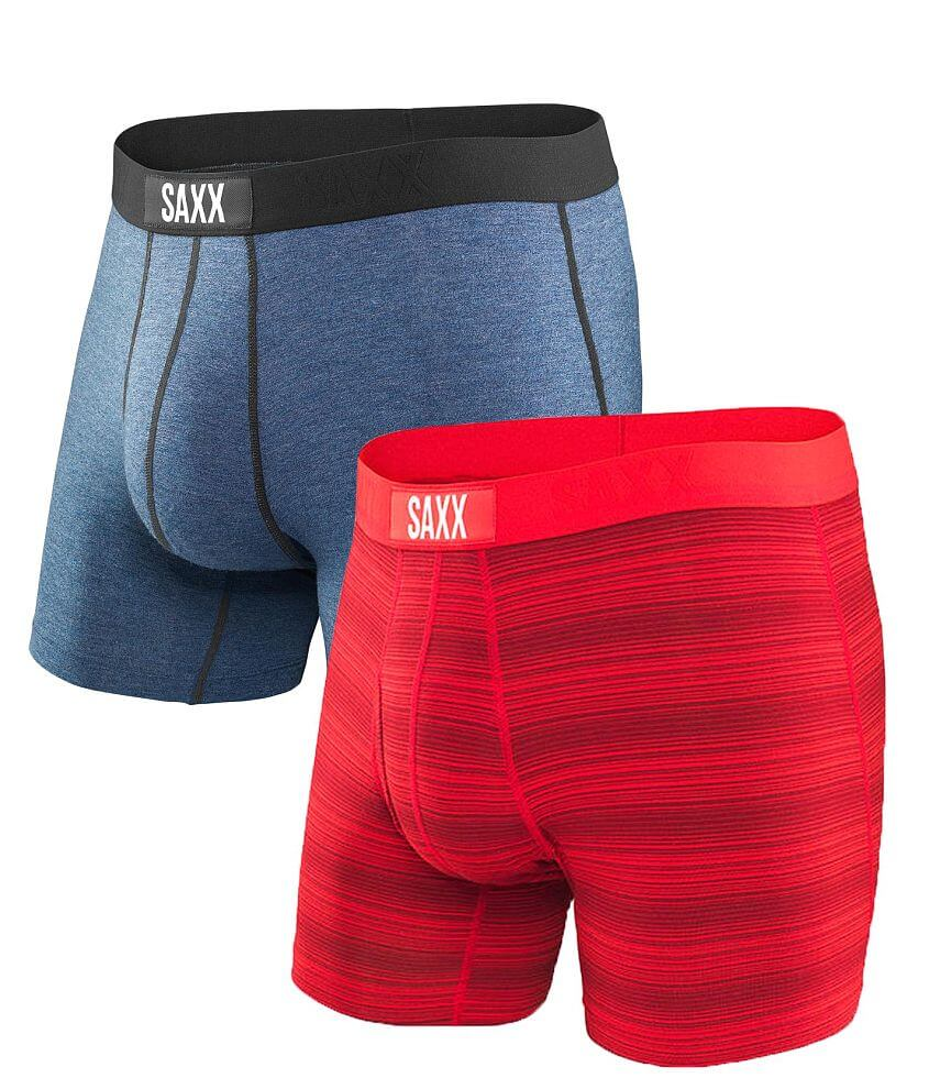 SAXX Ultra & Vibe 2 Pack Stretch Boxer Briefs front view