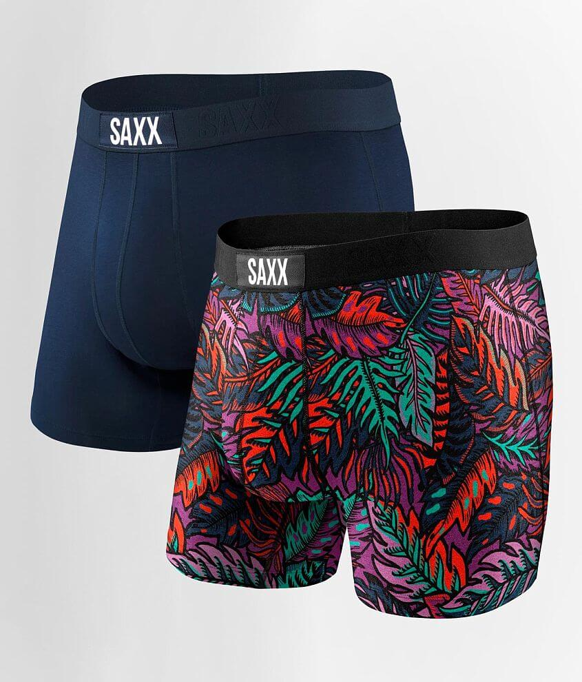 SAXX Vibe 2 Pack Stretch Boxer Briefs front view