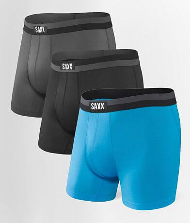 SAXX Sport Mesh 3 Pack Stretch Boxer Briefs