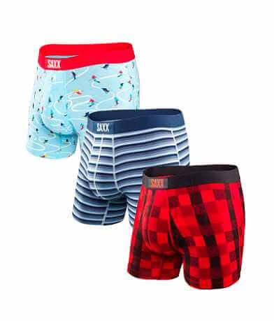 SAXX Vibe 3 Pack Holiday Boxer Briefs