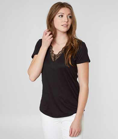 Daytrip Faux Suede V-Neck Top