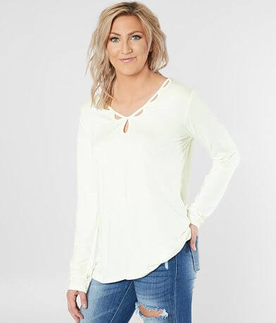 Daytrip Cut-Out V-Neck Top