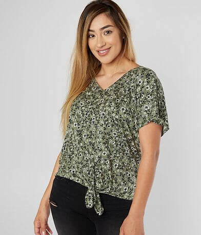 Daytrip Floral V-Neck Dolman Top
