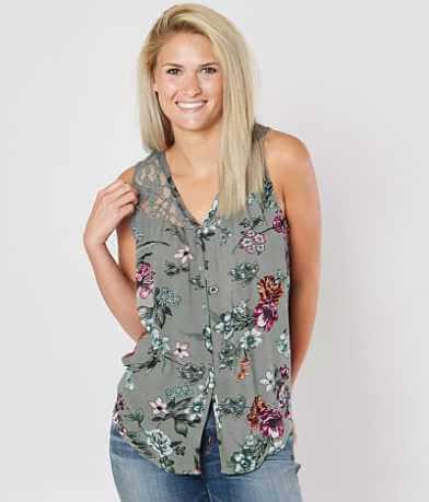 Daytrip Floral Lace Tank Top