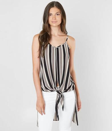Daytrip Striped Gauze Tank Top