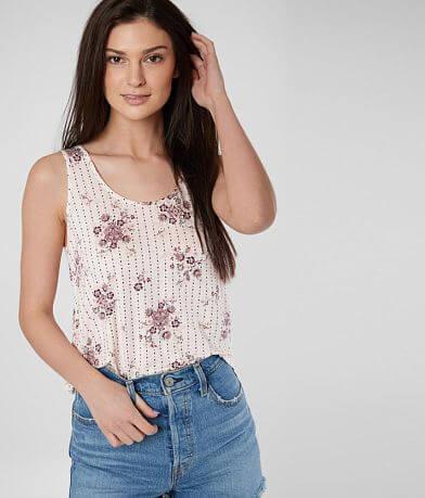 b54404f76d7fa Daytrip Floral Knit Tank Top