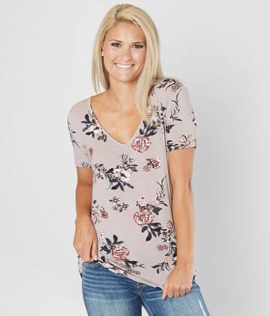 Daytrip Floral Cut-Out Top