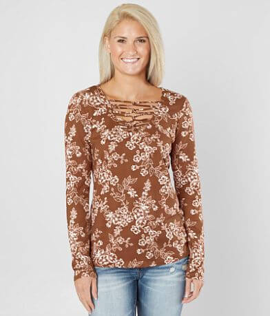 Daytrip Floral Lattice Top